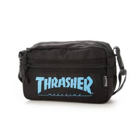 THRASHER/ショルダーバッグ (ブラック×ブルー)