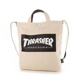 THRASHER/バック THR-133 (ホワイト×ブラック)
