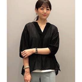 シアーシャツ+タンクセット (ブラック)