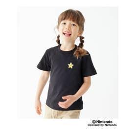 【100-160cm】スーパーマリオTシャツ (ブラック)