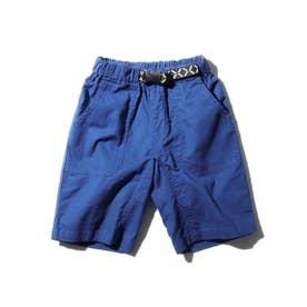 【100-150cm】カラーショートパンツ/新色追加 (ブルー)