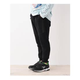 【100~150cm】のび~るジョガーパンツ (ブラック(419))