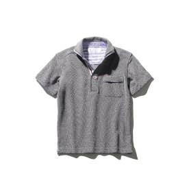 【パパとおそろい】ワンポケット半袖ポロシャツ (チャコールグレー)