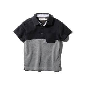 【100-150cm】【吸水速乾】【抗菌防臭】パパとおそろいポロシャツ (ダークネイビー)