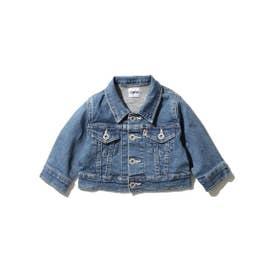 【100-130cm】EDWIN 大人顔負けのデニムジャケット!セットアップ対応商品 (ブルー)