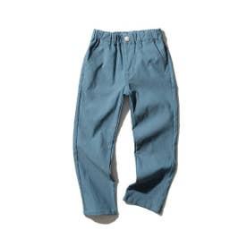 【150・160cm】【WEB限定】のび~るストレートパンツ (ブルー)