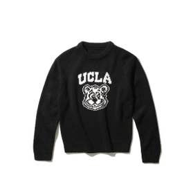【WEB限定】【110cm・130cm展開】【親子おそろい】UCLA/ユーシーエルエー別注ニット (ブラック)