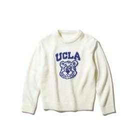 【WEB限定】【150cm展開】【親子おそろい】UCLA/ユーシーエルエー別注ニット (ホワイト)