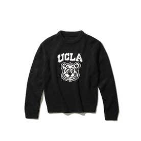 【WEB限定】【150cm展開】【親子おそろい】UCLA/ユーシーエルエー別注ニット (ブラック)
