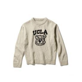 【WEB限定】【150cm展開】【親子おそろい】UCLA/ユーシーエルエー別注ニット (ベージュ)