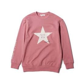【150・160cm】星柄トレーナー (ピンク)