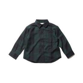 チェックシャツ (ダークグリーン)