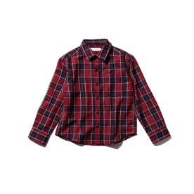 チェックシャツ (レッド)