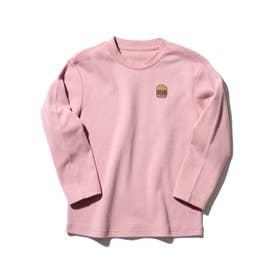 【150・160cm】スムース長袖プルオーバー (ピンク)
