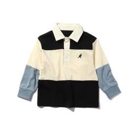 【WEB限定】【150・160cm】KANGOL/カンゴール別注クレイジーパターンラガーシャツ (ブラック)