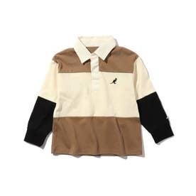 【WEB限定】【150・160cm】KANGOL/カンゴール別注クレイジーパターンラガーシャツ (ベージュ)