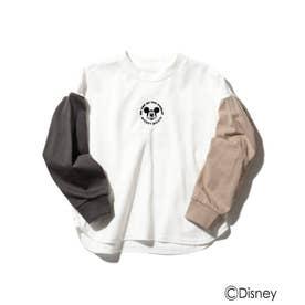 【ディズニー】ミッキーマウス/TOY STORY/クレイジーパターンロングTシャツ (オフホワイト)