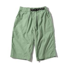 【150・160cm】定番カラーショートパンツ/飾りベルト付き (ライトグリーン)