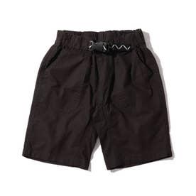 定番カラーショートパンツ/飾りベルト付き (ブラック)