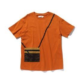 【160cmまで】サコッシュデザインTシャツ (ブラウン)