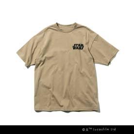 【WEB限定/150・160cm】STAR WARS/バックプリントTシャツ (サンドベージュ)
