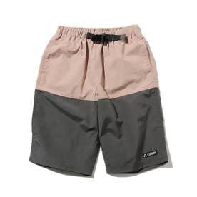 【150・160cm】別注GERRY バイカラーナイロンパンツ (ピンク)