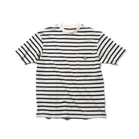 【リサイクル素材CYCLO/160cmまで】ボーダーTシャツ (ダークネイビー)