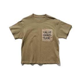 布帛ポケットTシャツ (カーキ)