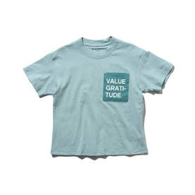布帛ポケットTシャツ (サックス)