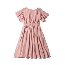 【WEB限定/160cmまで】ワッシャーワンピース (ピンク)