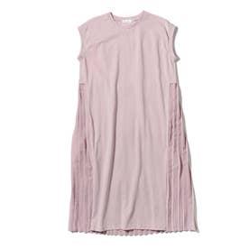【150・160cm】【リンクコーデ】バックプリーツワンピース (ピンク)