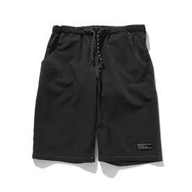 【150・160cm】夏パンツ!ナイロン混カラーショートパンツ (ディープグレー)