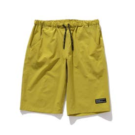 【150・160cm】夏パンツ!ナイロン混カラーショートパンツ (イエロー)