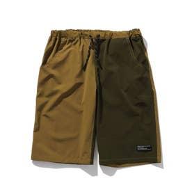 【150・160cm】夏パンツ!ナイロン混カラーショートパンツ (キャメル)