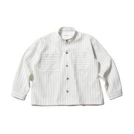 【WEB限定/140cmまで】バンドカラーシャツ (オフホワイト)