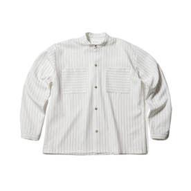 【WEB限定/160cmまで】バンドカラーシャツ (オフホワイト)