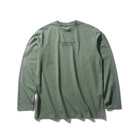 【160cmまで】コットンUSA長袖Tシャツ (ダークオリーブ)