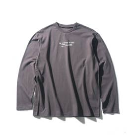 【160cmまで】コットンUSA長袖Tシャツ (ブラウン)