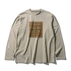 【160cmまで】コットンUSA長袖Tシャツ (ベージュ)