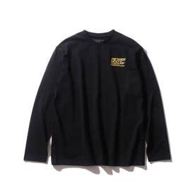 【160cmまで】コットンUSA長袖Tシャツ (ブラック)