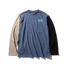 【160cmまで】コットンUSA長袖Tシャツ (ブルー)