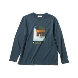 【WEB限定/140cmまで】【キーコーヒー/KEY COFFEE】喫茶店フォトプルオーバー (ブルー)