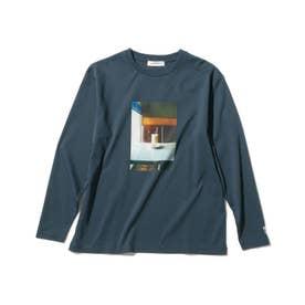 【WEB限定/160cmまで】【キーコーヒー/KEY COFFEE】喫茶店フォトプルオーバー (ブルー)