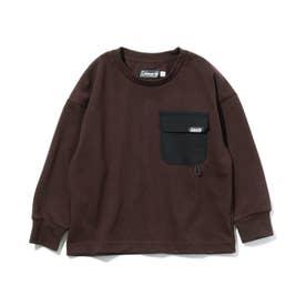 【リンク/140cmまで】別注Coleman長袖Tシャツ (ブラウン)