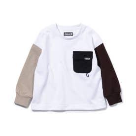 【リンク/140cmまで】別注Coleman長袖Tシャツ (オフホワイト)