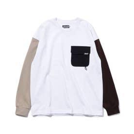 【リンク/160cmまで】別注Coleman長袖Tシャツ (オフホワイト)