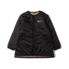 【160cmまで】キルトロングジャケット (ブラック)