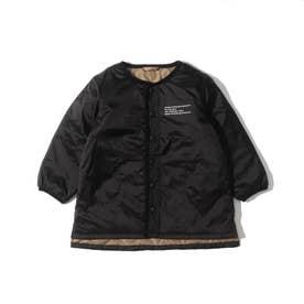 【140cmまで】キルトロングジャケット (ブラック)