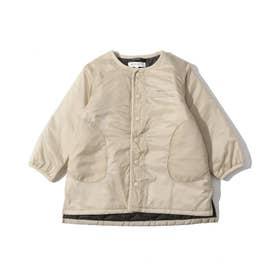 【140cmまで】キルトロングジャケット (サンドベージュ)