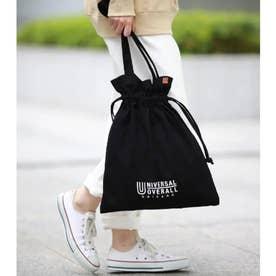 UNIVERSAL OVERALL/ユニバーサルオーバーオール別注2WYA巾着バッグ (ブラック)
